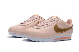 newest f97cf a47d8 Most Popular Nike Cortez Leather Pink/Gold Running Sports Shoes 807471-800