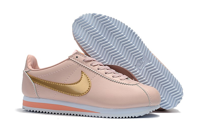 nike cortez leather pink