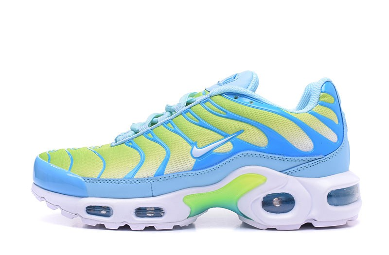 New Arrival Nike Air Max Plus TN Blue Yellow White Women s Shoes For ... 8ff7727a0
