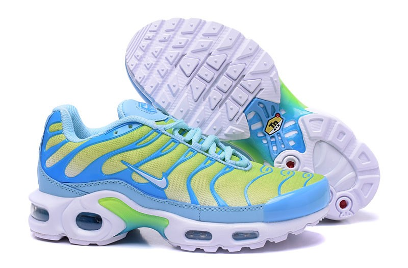 quality design 184fe 76fe6 New Arrival Nike Air Max Plus TN Blue/Yellow/White Women's Shoes For Sale