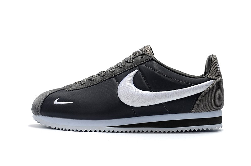 huge discount 79d2e 76486 New Arrival Nike Cortez Nylon Dark Gray/White Running Shoes Sneakers For  Sale