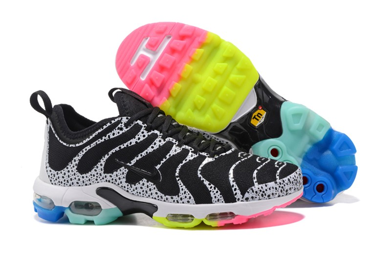 60c945e24abe4d New Arrivel Nike Air Max Plus TN Black White Rainbow 881560-436 Running  Shoes