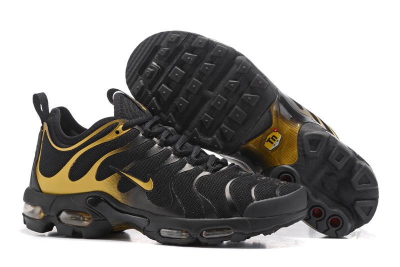 competitive price b1a46 0a516 New Arrivel Nike Air Max Plus TN Ultra Black/Gold 526301-010 Men's Running  Shoes Sneakers