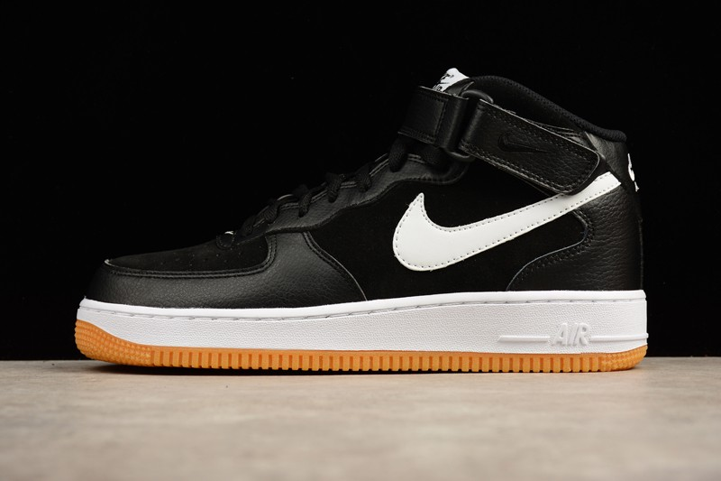 nike air force one mid black and white