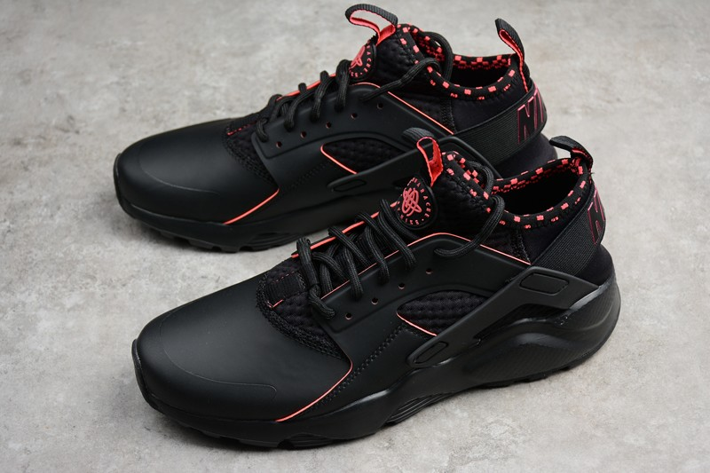 New Nike Air Huarache Run Ultra SE Black Solar Red 875841-005 Shoes ... 16c56dd91755
