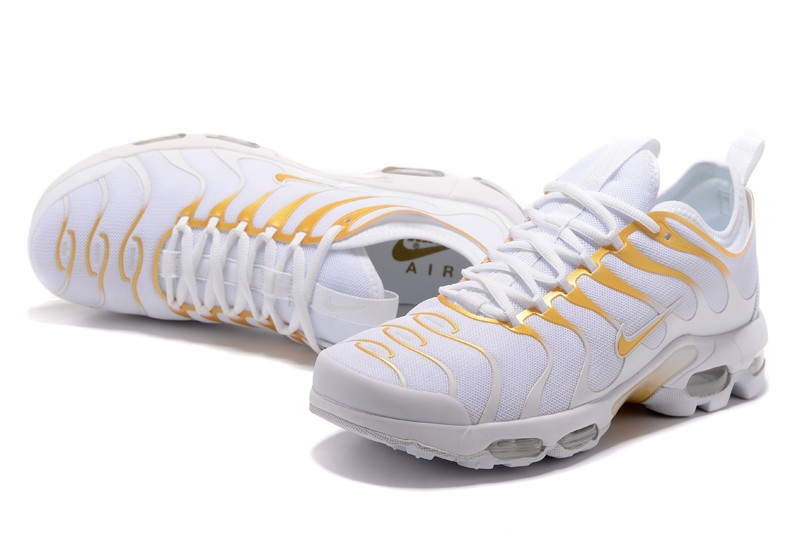 the best attitude 4f661 7ce4e New Style Nike Air Max Plus TN Ultra White/Gold 898015-013 Running Shoes  Sale