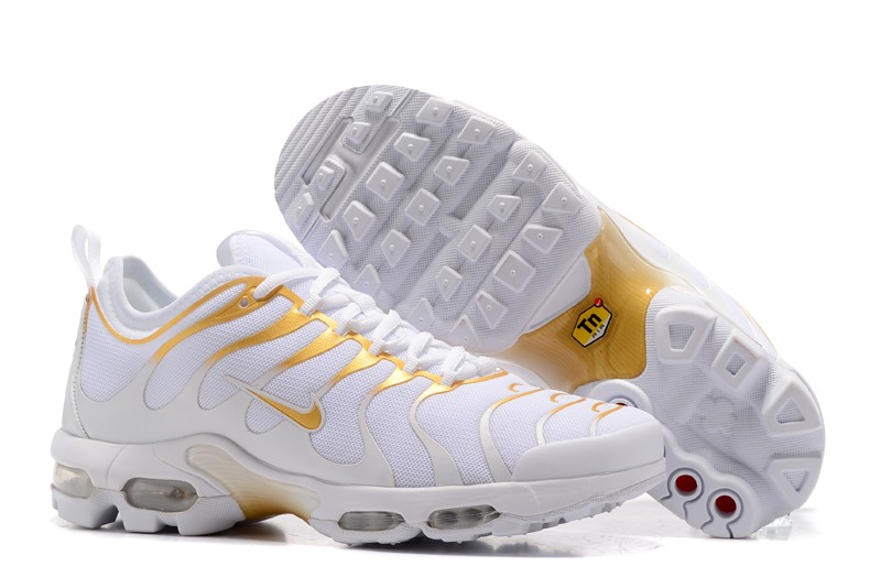 New Style Nike Air Max Plus TN Ultra White/Gold 898015-013 Running ...