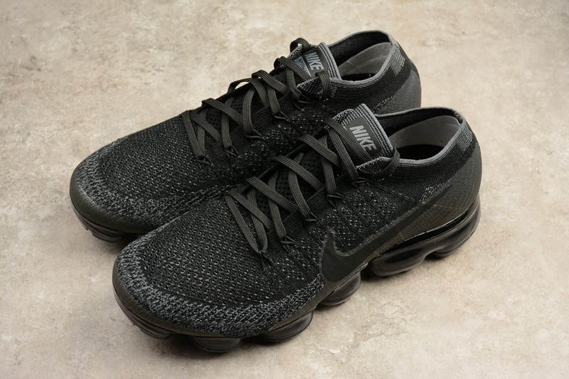 "separation shoes 3b24c 5fb13 New Style Nike Air VaporMax Flyknit ""Triple Black"" 849558-007 Trainers"