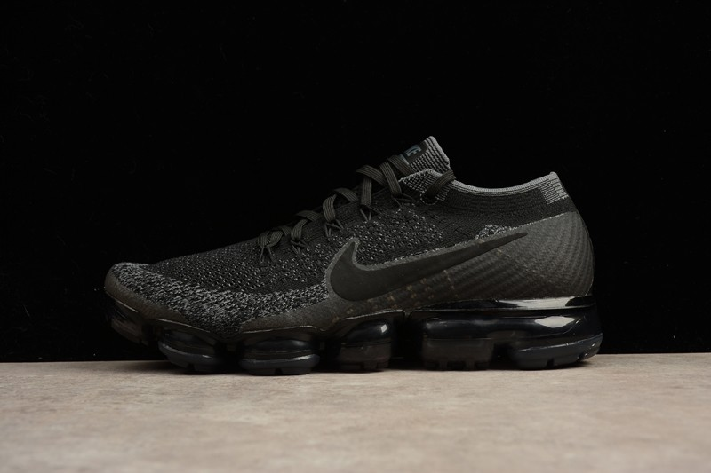 "76bc0aa2ff352 New Style Nike Air VaporMax Flyknit ""Triple Black"" 849558-007 Trainers"