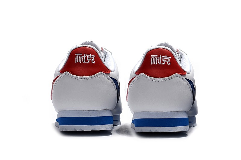 New Style Nike Cortez Basic Leather White Red Blue Resistant Lightweight  Sneakers Super Deals dde71693e