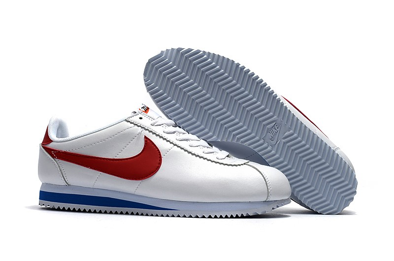Cortez Basic Whiteredblue Resistant Nike New Leather Style wqCUnSE6a