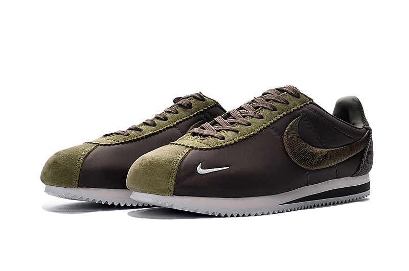 New Style Nike Cortez Nylon Embroidery Army Green White Running ... 8c77c594ea09