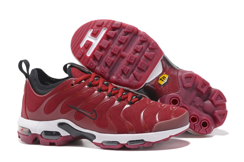 more photos 4872a c7b3e Newest Nike Air Max Plus TN Ultra University Red Black-White 898015-600 Men s  Shoes
