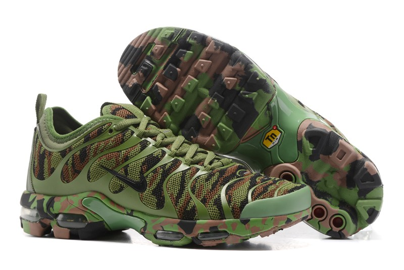 75eedbb90 Newest Nike Air Max Plus Tn Ultra Army Green Camouflage 898015-022 Running  Shoes
