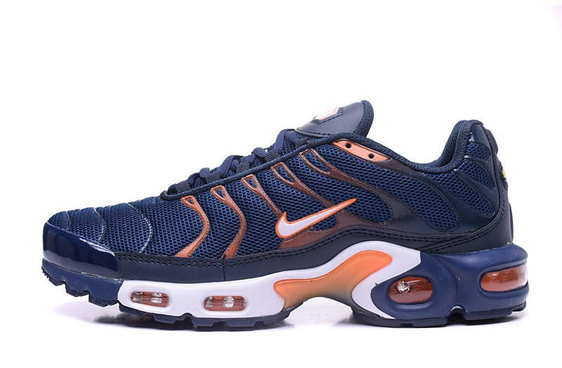 brand new e93e3 af155 Newest Nike Air Max Plus TN Ultra Navy Blue Orange ...