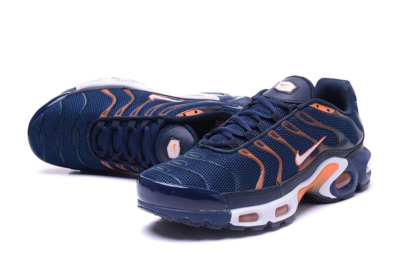 984e4298 Newest Nike Air Max Plus TN Ultra Navy Blue/Orange Men's Running Shoes  Sneakers