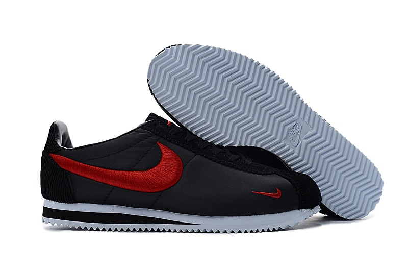 paz bruscamente Subir  Newest Nike Cortez Nylon Embroidery Black/Red/White Leisure Running Shoes  For Sale | Evesham-nj