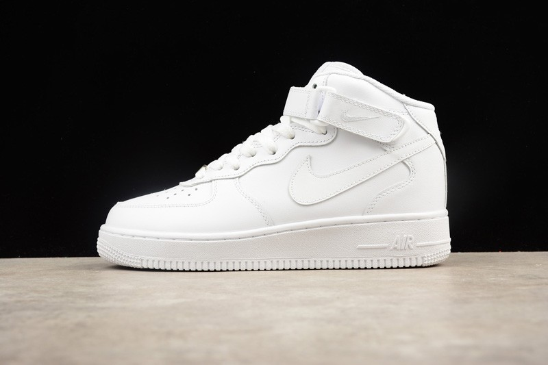 newest 867bd 34011 Nike Air Force 1 High All White Wear-resistant Breathable Sneakers  315123-111 For Sale