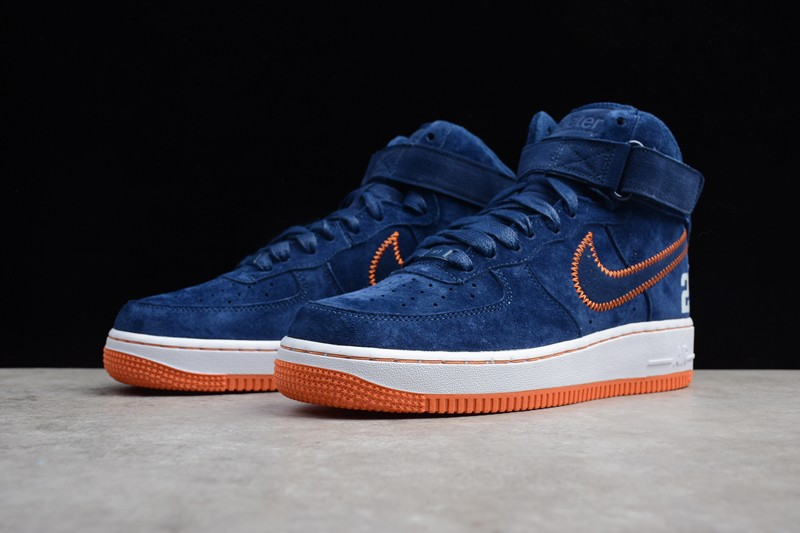 Nike Air Force 1 High Buckskin Blue Mens Womens Fashion Shoes AQ0667 ... cdbe8868c