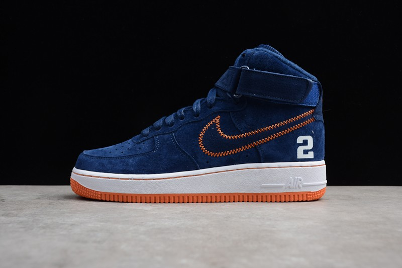 Nike Air Force 1 High Buckskin Blue Mens Womens Fashion Shoes