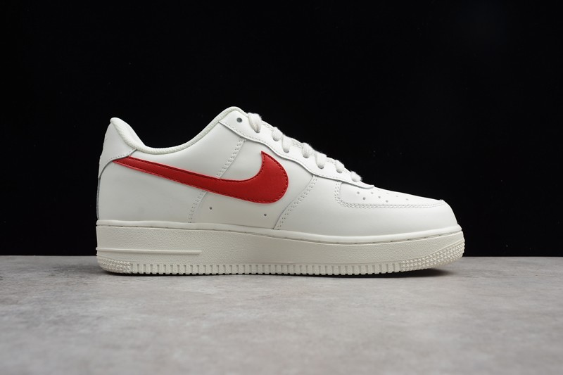 Nike Air Force 1 White/Red Mens Sport