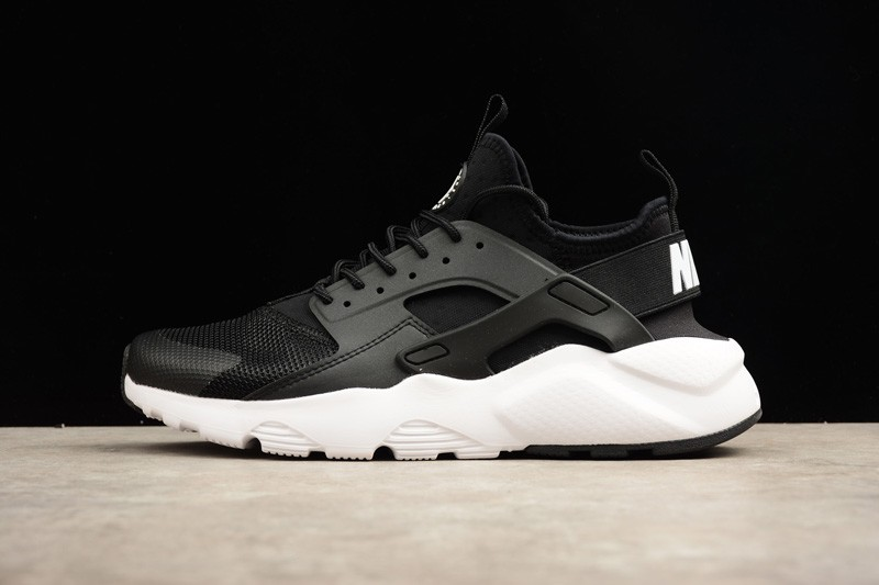sale retailer 91f01 59dc6 Nike Air Huarache Run Ultra Trainers Black-White 819685-001 Running Shoes