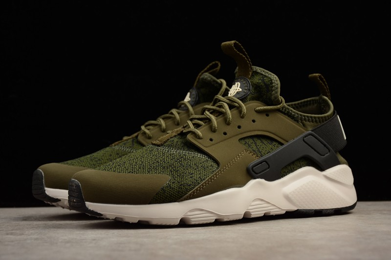 check out 5057b 457ce Nike Air Huarache Ultra Olive Green/Black 753889-003 Unisex Running Shoes