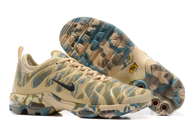 19488cc58e16 Nike Air Max Plus TN Green Rice Yellow Camouflage 898015-026 Running Shoes  Sale