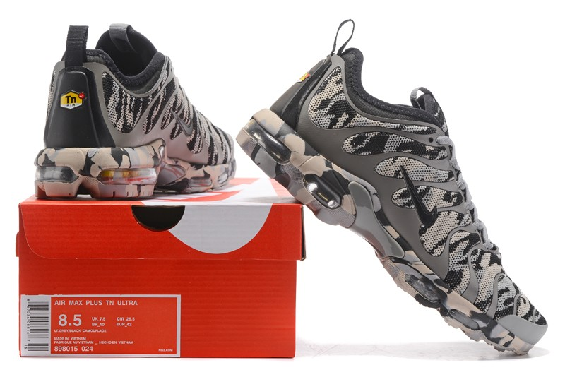 aa56333e500 Nike Air Max Plus TN Ultra Wolf Grey Camouflage 898015-024 Men s ...