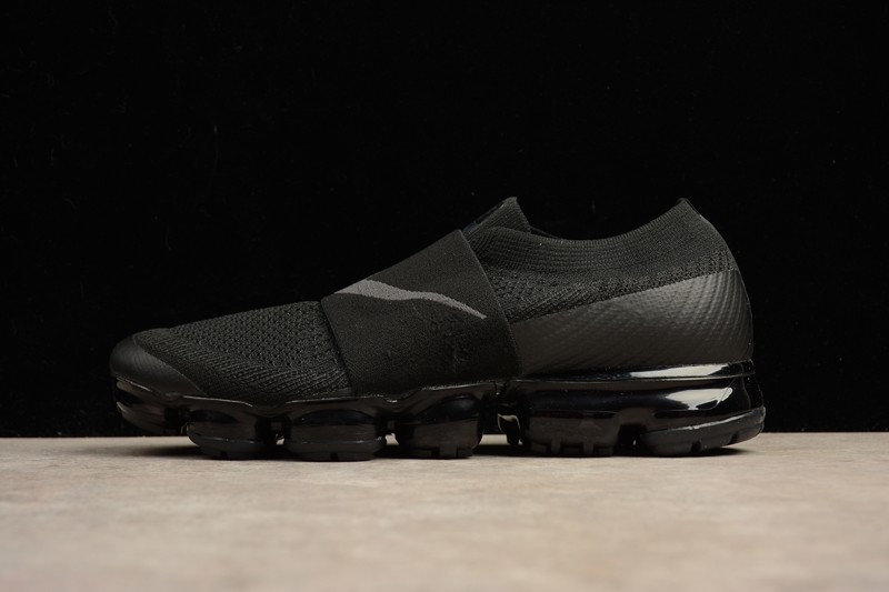 533ffa621bb Nike Air VaporMax Flyknit Triple Black AH3397-004 Running Shoes For Sale