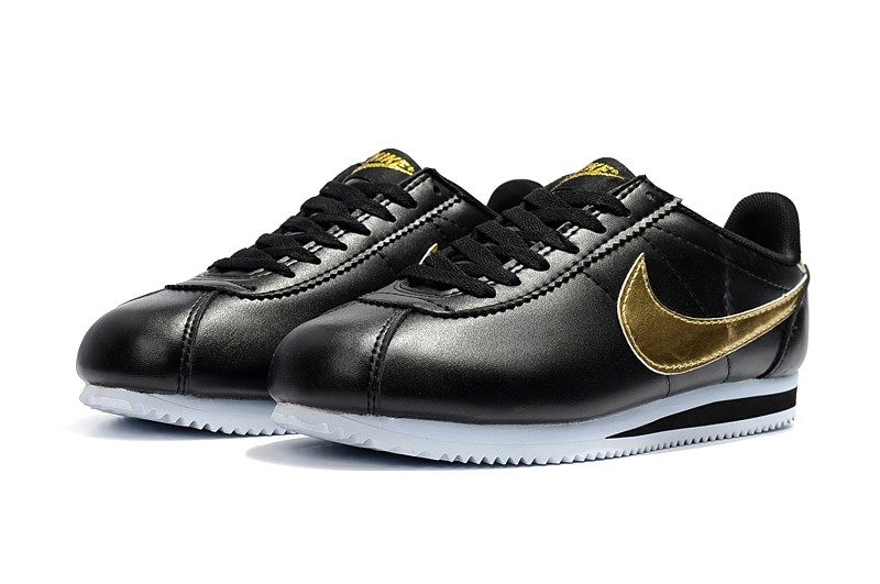 Cambiable Extremistas Nuestra compañía  Nike Classic Cortez Basic Leather Unisex Shoes Black/Metallic Gold/White  884412-001 | Evesham-nj