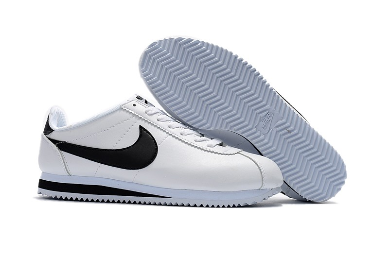 new arrival bcf45 53820 Nike Classic Cortez Leather White/Black Running Shoes 749571-100 Super Deals