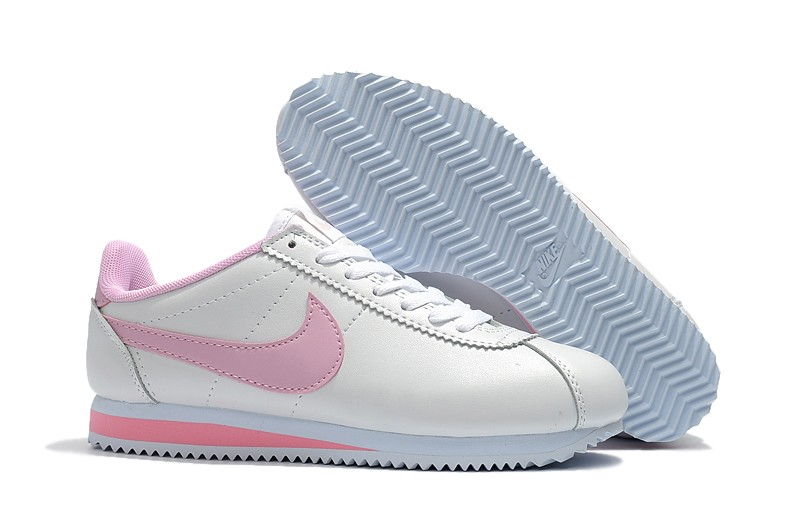 Nike Classic Cortez Leather White Pink 807471-013 Women s Running Shoes  Super Deals ca4b9f94a