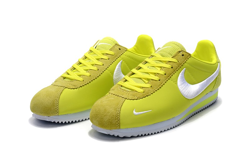 finest selection f77b3 38094 Nike Cortez Nylon Embroidery Fluorescent Green/White Unisex Running Sports  Shoes