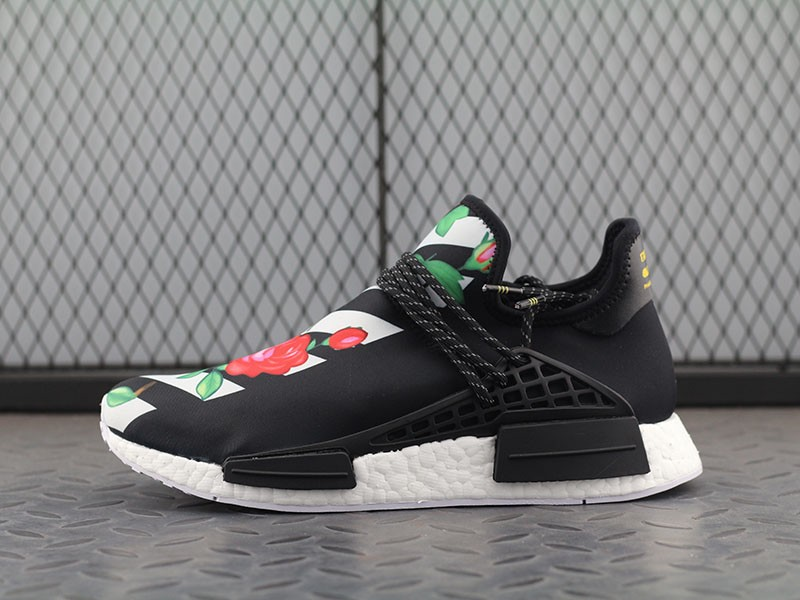 huge selection of d0ae4 0dcad Off-White X Adidas Hu NMD Boost Mens Sneakers BB0622 Black & White