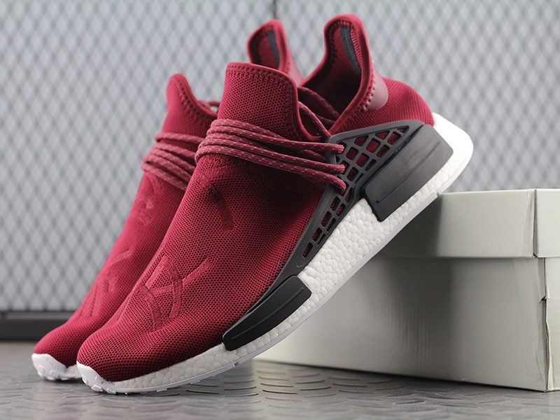 Pharrell Williams X Adidas Human Race NMD Unisex Red Wine BB0617
