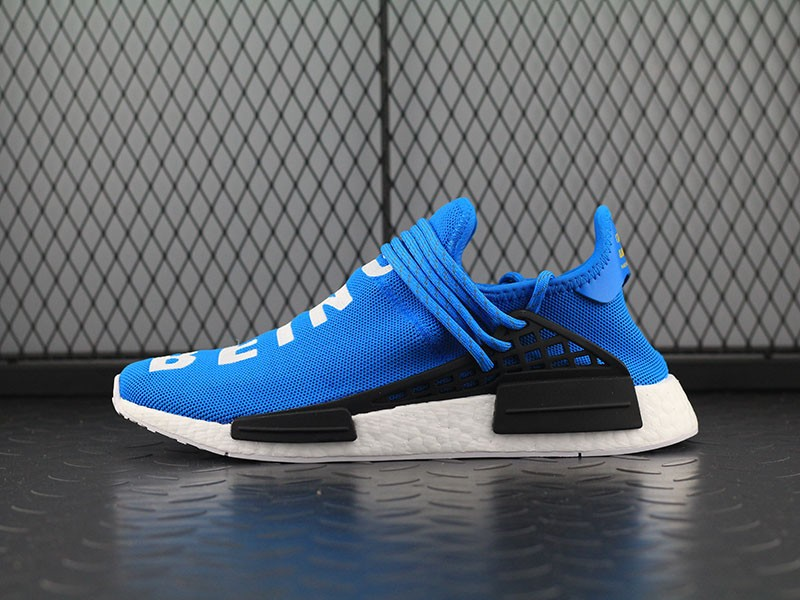 a7e25fe4817 Pharrell Williams X Adidas NMD Human Race  Shale Blue  Running Shoes ...