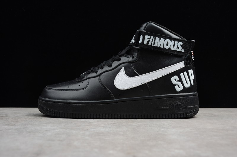 Supreme x Nike Air Force 1 High Casual Shoes 698696-010 Black To Buy ... 139054555e