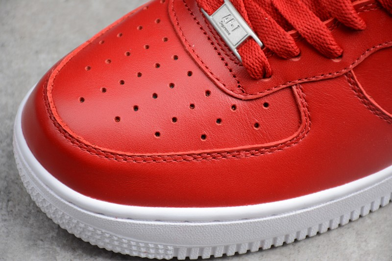 size 40 64fec 826e8 Supreme x Nike Air Force 1 High Red/White Casual Shoes 698696-610 For Sale