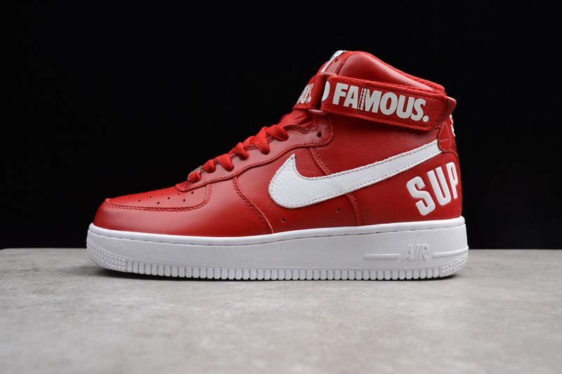 new concept 19d23 56301 Supreme x Nike Air Force 1 High RedWhite ...