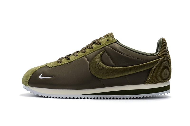 4e4edd58d5 ... italy top quality nike classic cortez unisex army green white 9c609  d43a0