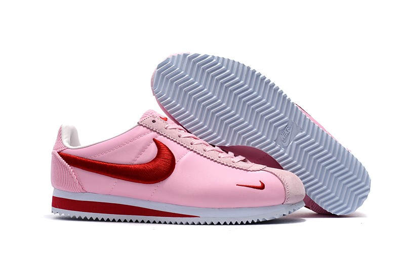 bf02b318f4554 Women's Nike Classic Cortez Nylon Embroidery Pink/Red/White Leisure ...