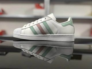 """2018 Adidas Originals Superstar """"White-Blue-Pink"""" Women s Sneakers Casual  Shoes c94840266db5"""
