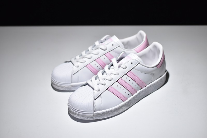 Adidas Originals Superstar BB0008 White/Pink Women's Casual Shoes For Sale