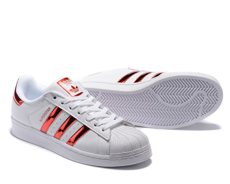 save off 9ded6 a673c Adidas Originals Superstar Unisex Casual Sneakers Shoes Metallic/White/Red  AQ2870
