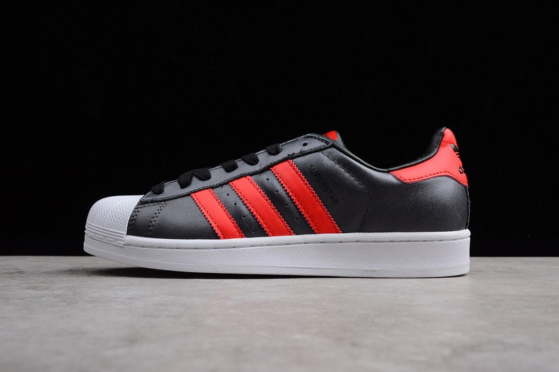 Adidas Originals Superstar Unisex Sneakers Casual Shoes Black White Red  S75874 0422f157d816