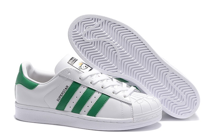 new concept 0b2b0 75fd9 Adidas Originals Superstar WhiteGreen Unisex Sneakers Casual Shoes S83385