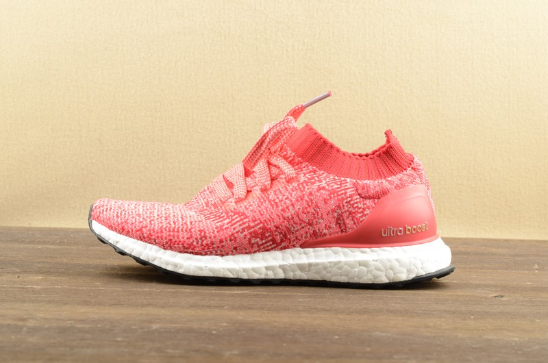 ee892a66a7cc7 Adidas Ultra Boost Uncaged Red Ray Pink White BB3903 Women s Shoes ...