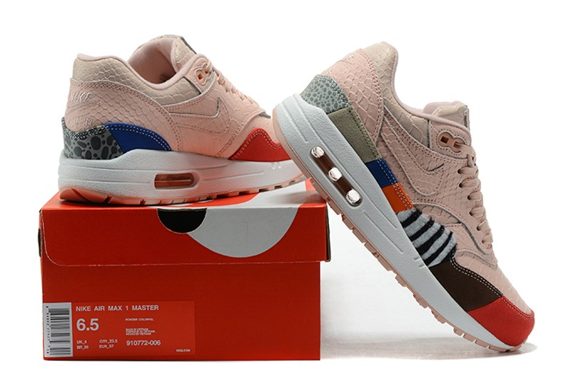 Beautiful Nike Air Max 1 Leopard Light Pink 910772 006 Running Shoes Sale