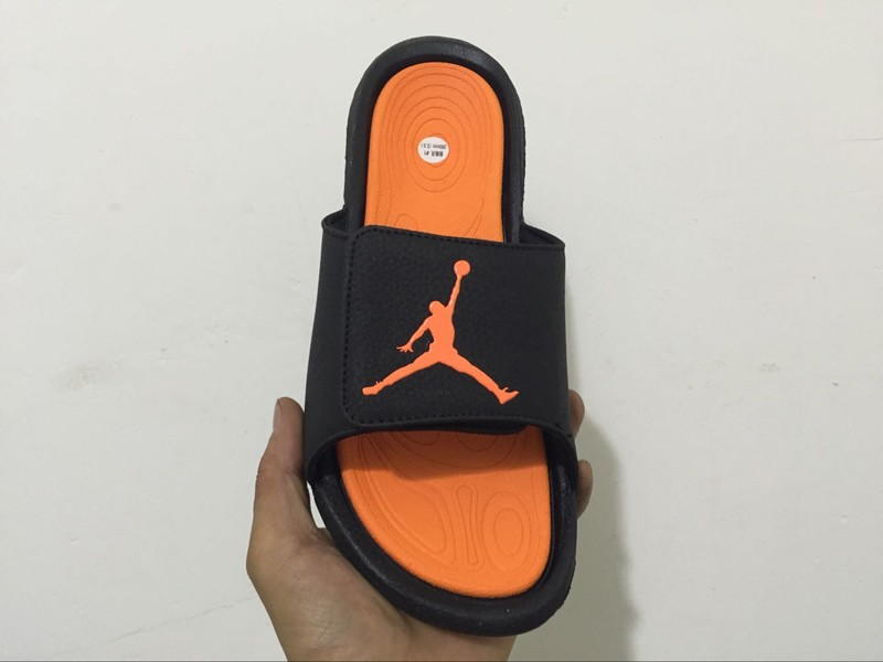 0281a665a10b Classic Jordan Hydro 6 Black Orange Sandals Slippers Slides 881473 ...
